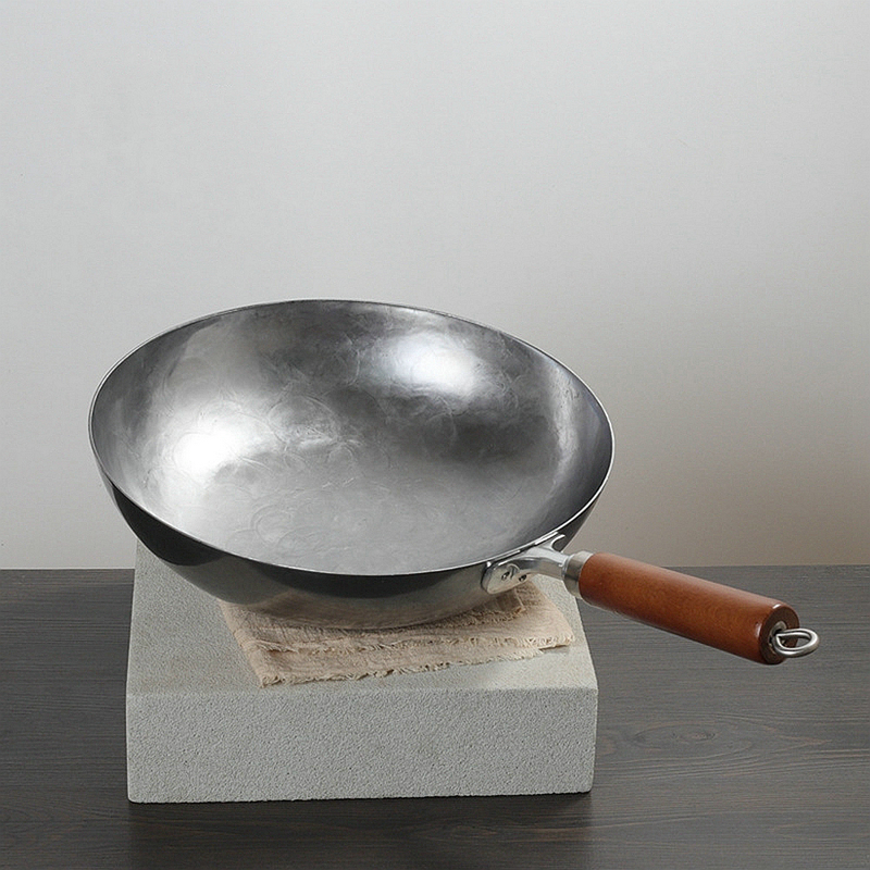 Kitchen Iron Chinese Iron Wok Wok Nonstick Pan Non-coating Gas Cooker Cookware Smokeless Cooking Pan