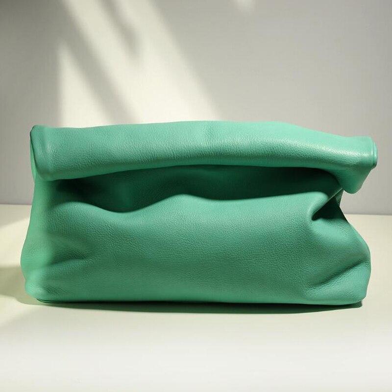 New Simple Euro Design Handbags Hot Office Mobile Phone Pocket Women's Handbag High Quality Genuine Leather Bags