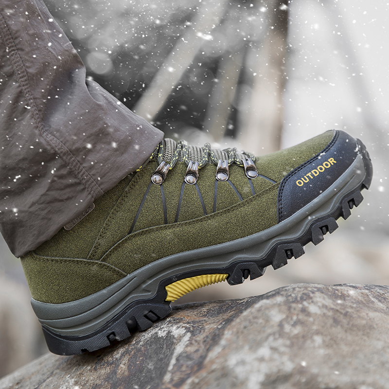 Men Profession Hiking Shoes Waterproof Anti-Skid Outdoor Trekking Shoes High Quality Climbing Sports Shoes Plus Size 39~47