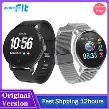 2021 MoreFit V11 Смарт-часы для мужчин и женщин, сенсорный экран, водонепроницаемый, пульсометр, фитнес-трекер, Смарт-часы