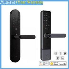 Aqara N100 y N200 inteligente cerradura de puerta Bluetooth cerradura Digital con huellas dactilares contraseña NFC tarjeta APP de forma remota para Homekit y Mi aplicación para hogares