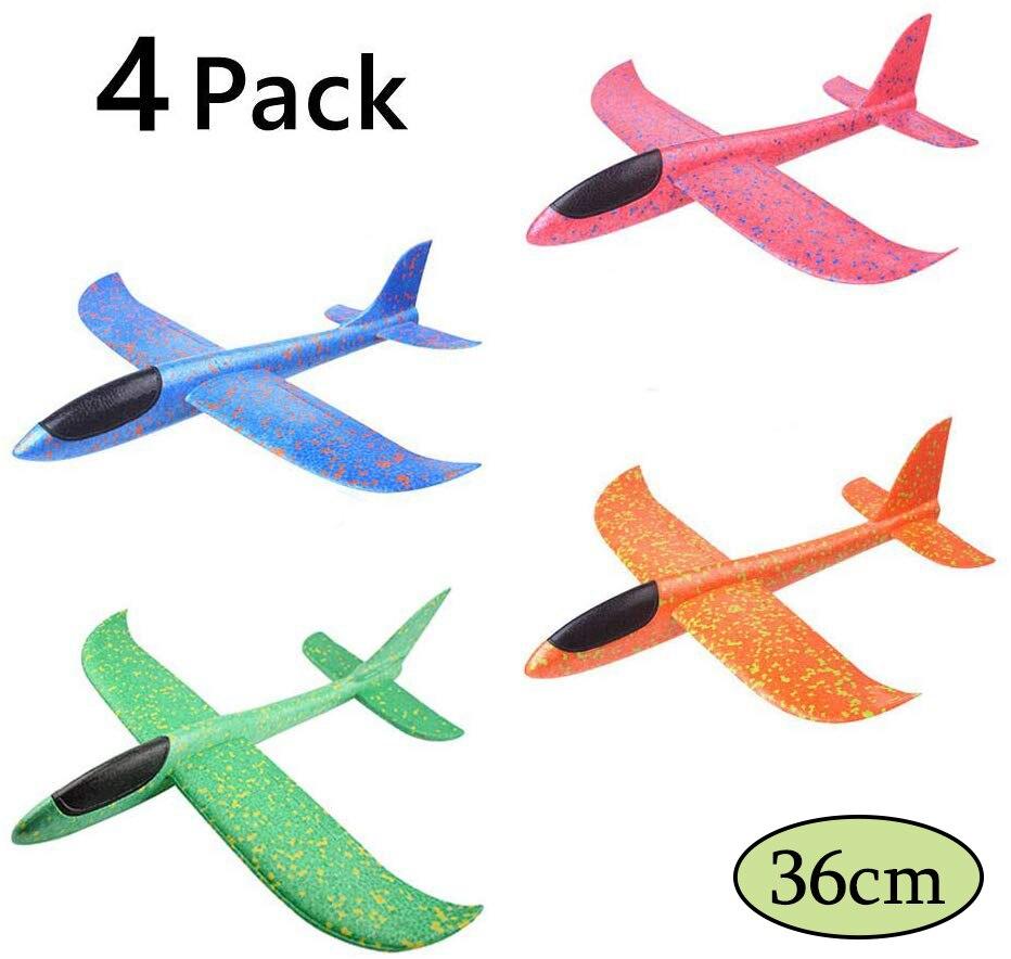 Jouet d'avion en mousse pour enfants, modèle d'avion à inertie, Mode de vol 36/48cm, pour sports de plein air 4