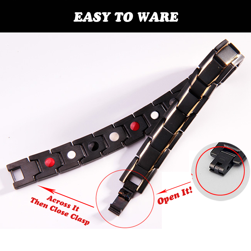 Men Women Healthy Magnetic Bracelet 3 Health Care Elements Relieve Fatigue Improve Sleep Reduce Fat Magnets Bangles Lovers Gift
