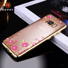 Luxe Glitter Case Voor Samsung Galaxy A3 A5 A7 2017 J3 J5 J7 Prime A6 A8 Plus A9 J4 J6 j8 2018 Cover Silicone Soft Coque Behuizing(China)