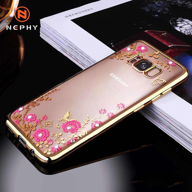 Sang Trọng Ốp Lưng Glitter Cho Samsung Galaxy A3 A5 A7 2017 J3 J5 J7 Thủ A6 A8 Plus A9 J4 J6 j8 2018 Bao Da Silicone Mềm Coque Vỏ