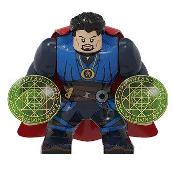 BIG Size Character Captain America Thor Iron Man Dr Strange Loki Hulk Thor Thanos Dealpool Model Figure Blocks Toys For Children 3