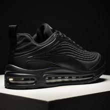 Мужские кроссовки без шнуровки, черные дышащие кроссовки, удобная повседневная обувь для бега, 2020
