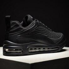 Zapatillas deportivas transpirables sin cordones para hombre, calzado cómodo informal, para correr, color negro, 2020