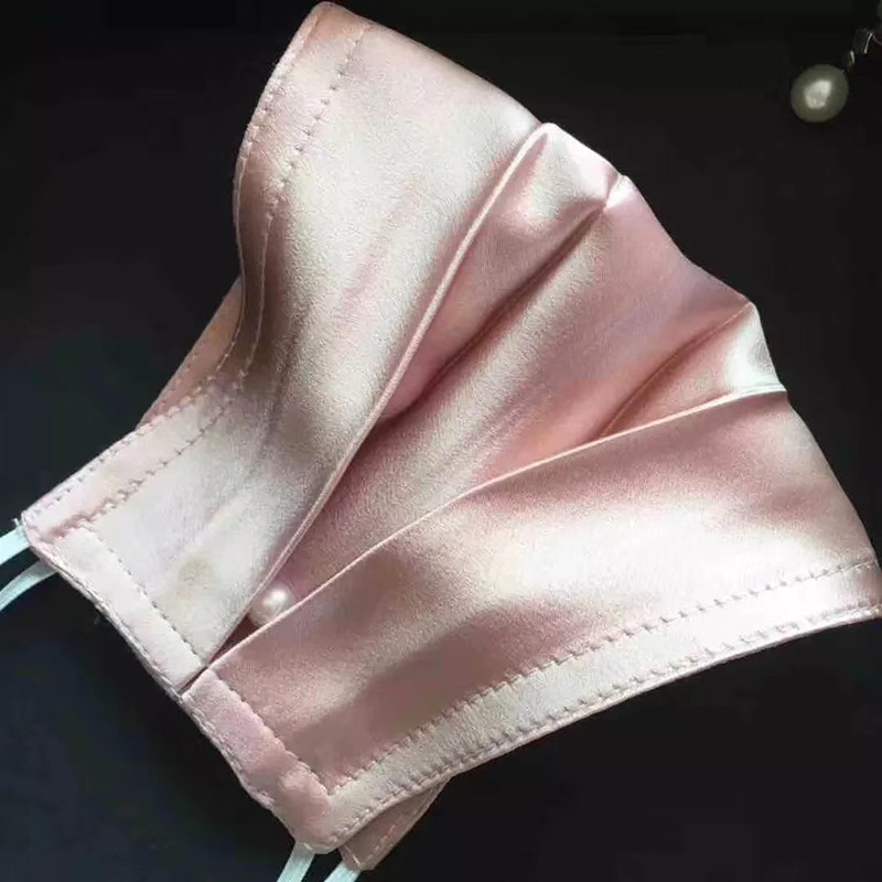 100% Silk Pink Face Shield Stain Uiti-sust Summer Breathable Personality Elegant Face Scarf Dust Designer Cover