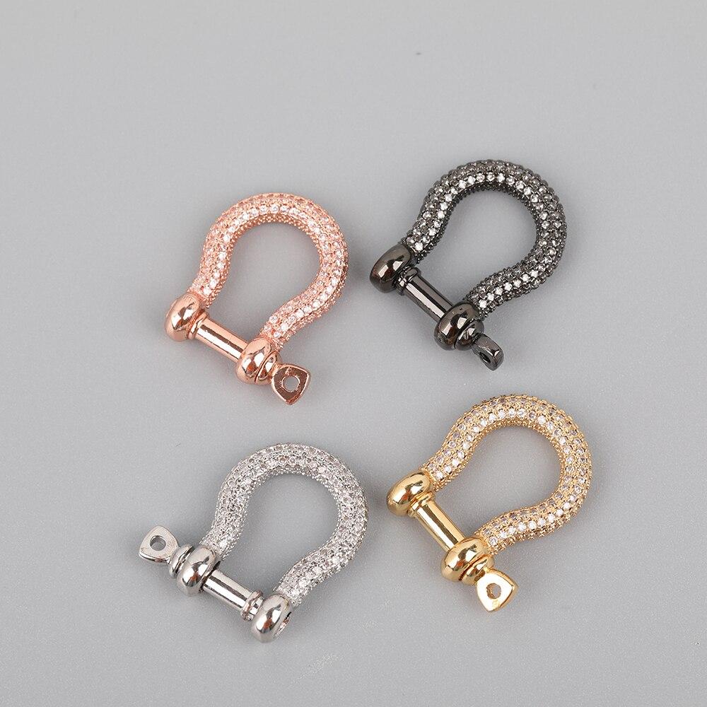 5 teile/los 16X22mm Zirkonia Micro Gepflasterte Lock Karabiner Haken DIY Schmuck Charme, Metall Haken Armband Halskette Machen