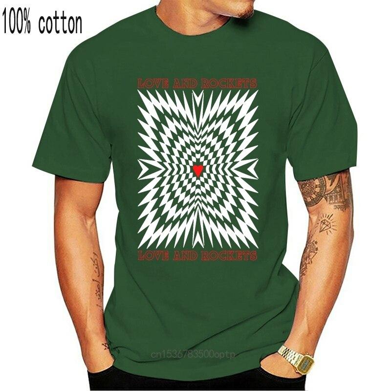 Amour et fusées amour et fusées 1989 gothique ROCK BAUHAUS nouveau noir T-SHIRT hommes T-SHIRT 100% coton imprimé chemises