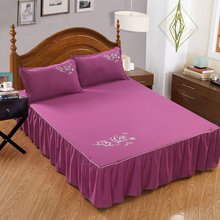 Bedspread Bed-Cover Decoration Solid Hotel Plain Home Sanding with Strap Bedroom