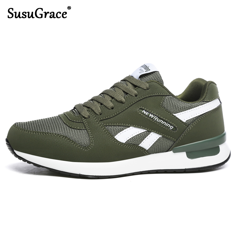 SusuGrace Quality Couple Sneakers Air Mesh Running Shoes Unisex Jogging Trainers Women Antiskid Outdoor Walking Shoes Hombres