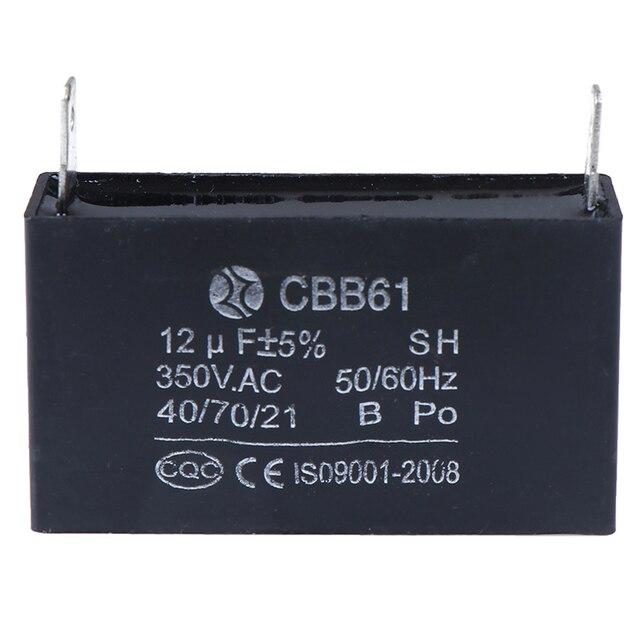 CBB61 12uF 50/60Hz Generatore di Motore Del Ventilatore 350VAC Condensatori Nero 12uF Generatore Condensatore Generatore