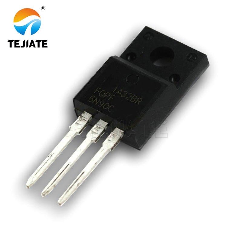 5PCS FQPF6N90C FQPF-6N90C 6N90C TO-220F Field-Effect Transistor