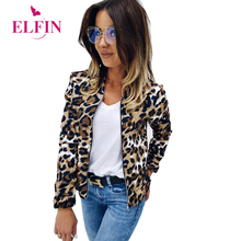 Leopard Print Women Coat Streetwear Zipper Stand Collar Long Sleeve Harajuku Jackets Slim Fit Autumn Winter Clothes SJ4674R