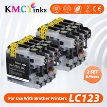 KMCYinks kompatybilne tusze do drukarek dla brata LC 123 MFC J4410DW J4510DW J870DW DCP J4110DW J132W J152W J552DW drukarki LC123 XL tanie i dobre opinie CN (pochodzenie) Pełna LC123XL Kompatybilny brother Wkład atramentowy For Brother LC123 Black Cyan Magenta Yellow Bk 20ml Color 13ml