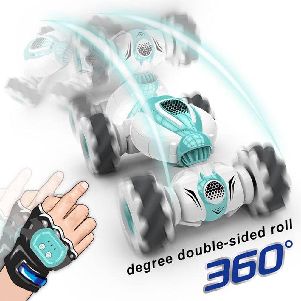 2,4 г мини пульт дистанционного управления Управление RC автомобиль свернуть роторный двухсторонняя трюк жест индукции скручивания дрейф вн...