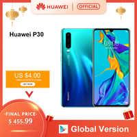 Version mondiale Huawei P30 6GB 128GB Kirin 980 Smartphone 30x Zoom numérique Quad caméra 6.1 ''plein écran OLED NFC 3650mAh