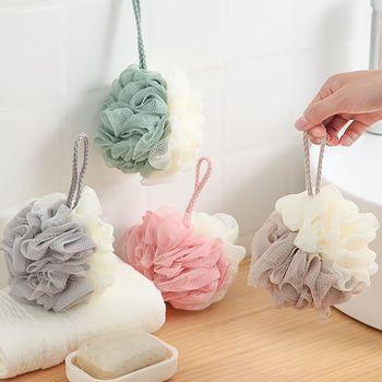 Fashion Bath Ball Body Cleaning Double Colors Mesh Massager Soft Shower Wash Sponge Bathroom Bathing Accessories - discount item  29% OFF Bath & Shower