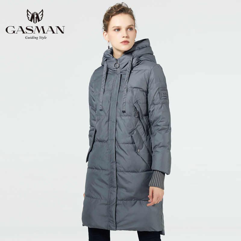 GASMAN 2019 chaqueta de invierno mujer nueva parka mujeres 2019 marca abrigos con capucha señoras chaquetas Parka femenina grueso forro acolchado invierno