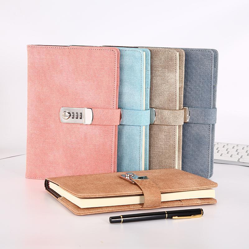 Cahier mot de passe livre avec serrure journal installé bloc-notes livres d'affaires école A5 planificateur organisateur bureau Supplie cahier