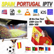 Best Stable IPTV Spain M3U Francais IPTV Portugal Subscription 1 Year IPTV M3U France Free VOD for Smart TV Android TV Box(China)