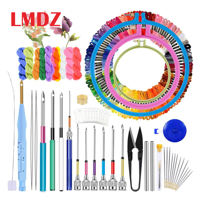 Needle-Kit Pen-Punch Sewing-Accessory-Tools-Kit Embroidery Hoop Craft Threads Cross-Stitch