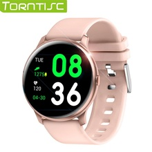 Torntisc 2019 ساعة ذكية الرجال النساء للماء IP67 القلب معدل ضغط الدم الأكسجين ساعة ذكية لنظام تشغيل الأندرويد الروبوت الهاتف