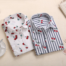 Brand New Red Rose Blouse Floral Print Tops Long Sleeve Shirts Women Cotton Blouses 2020 Summer Blusas Femininas Large Size 5XL