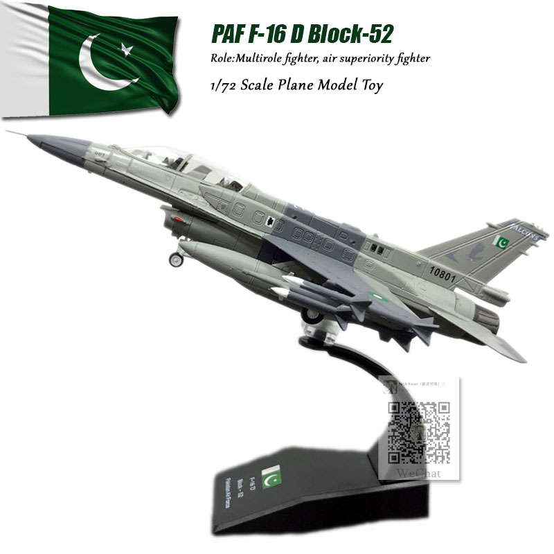 AMER 1/72 Scale PAF F-16 Block52 F16 Fighter Diecast Metal Military Plane Model Toy For Gift/Collection/Decoration