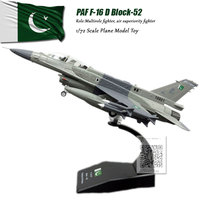 AMER 1/72 Scale PAF F 16 Block52 F16 Fighter Diecast Metal Military Plane Model Toy For Gift/Collection/Decoration