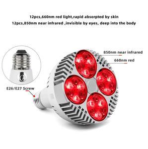 Image 2 - Ampul Büyümeye Yol Açtı E27 48W Derin Kırmızı 660nm Yakın Kızılötesi 850nm Için Çiçekli meyve Büyümek Spektrum Geliştirme Işık terapi