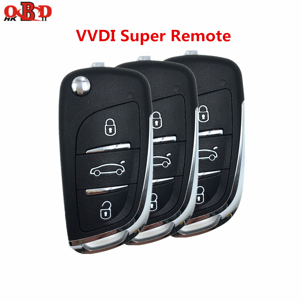 Xhorse 1/3/10pcs/lot Universal DS Style 3 Buttons VVDI Supe Remote Car Key for VVDI MINI Key Tool VVDI2 Key Programmer