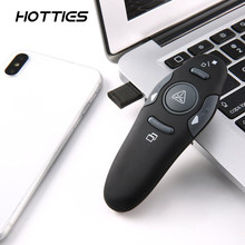 2.4GHz Wireless Exquisite Portable USB PowerPoint Presenter RF Remote Control Red Laser Pointer Pen Plug and Play(China)