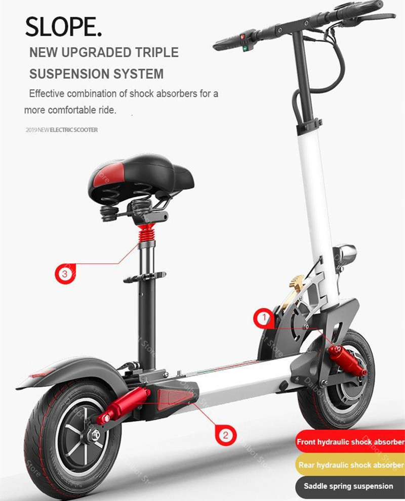1200W 60V Electric Scooters Adults Two Wheels Electric Scooters High Speed 60KMH Folding Powerful Electric Bike With Seat (37)