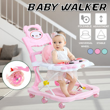 AU Fast-shipping 4 in 1 Baby Walker 6-18 Months Anti-rollover Multifunctional Scooter Child Walk Toy Car