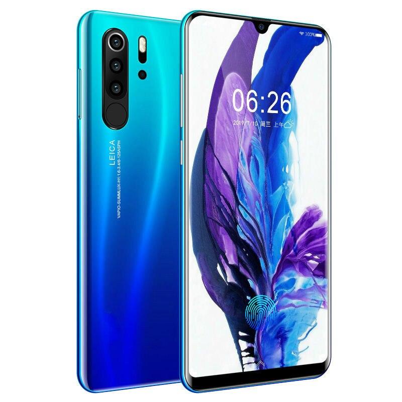 Smartphone Android 4G Badidear Europeus Asiáticos 6.3 Polegada P30 pro Celulares Dual Sim Desbloqueado Telefone Celular Gota de Água Tela