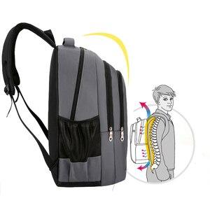 Image 5 - אופנה תרמיל 2020 גברים תרמיל מחשב נייד תיק פנאי נסיעות בית ספר נער כתף תיק Bagpack Backbag מוצ ילאס זכר