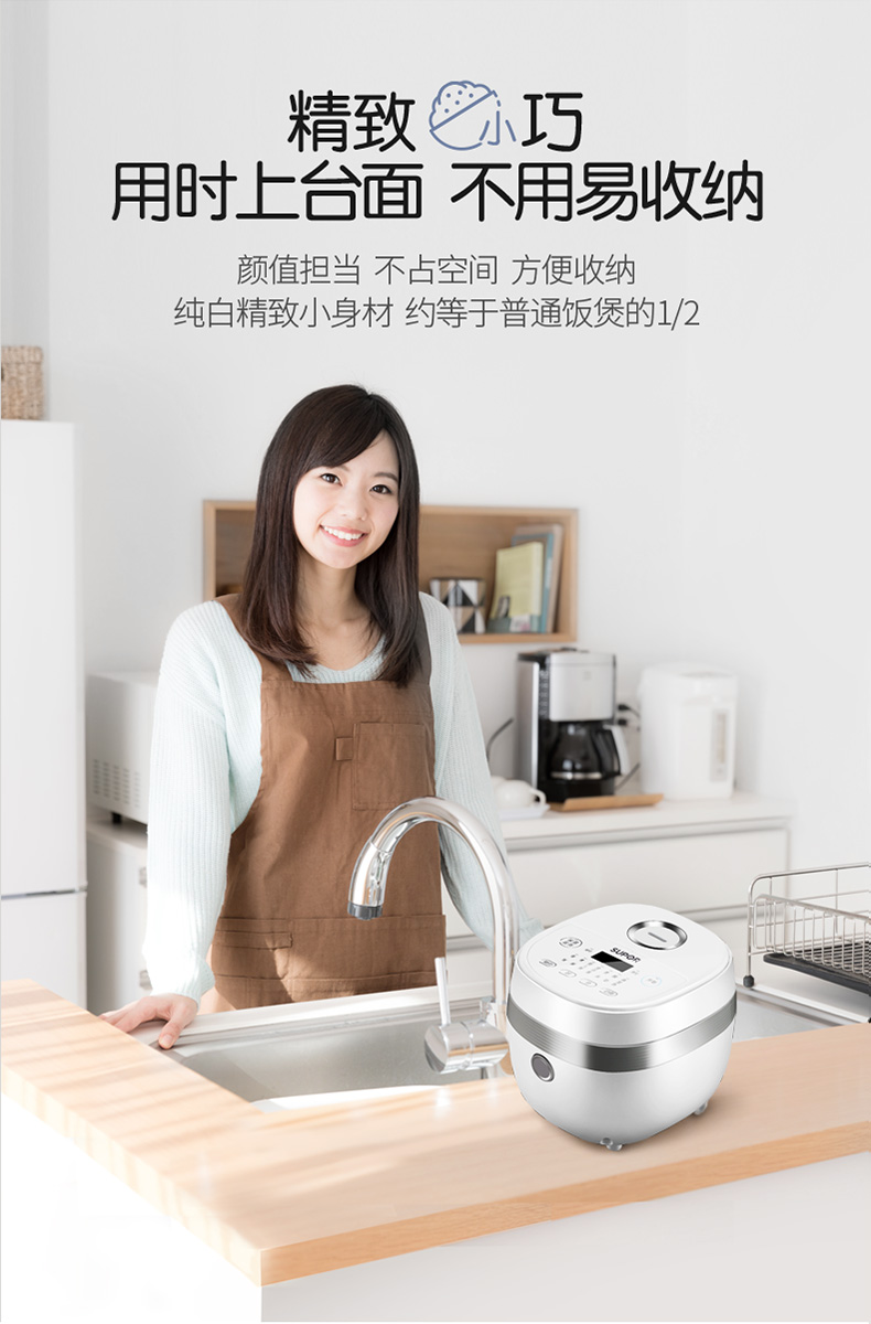 Rice Cooker Home Smart Mini Rice Cooker Single Small Dormitory 1-2 People 4