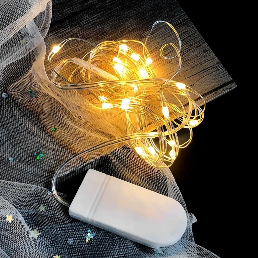 Guirlande de noël, guirlande de noël, lampe de décoration intérieure pour chambre à coucher et mariage, LED cordes lumineuses, 1-10M, fil de cuivre 5