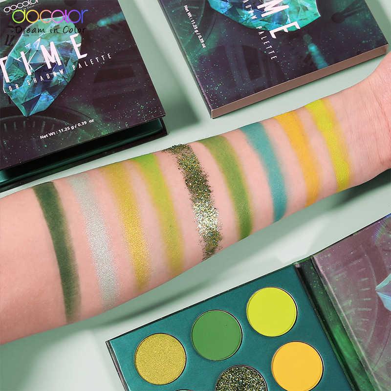 Docolorアイシャドウパレット 54 色シマーグリッター着色メイクアイシャドウパウダー防水化粧品