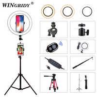 LED Ring Light 16cm 26cm 5600K 64 LEDs Selfie Ring Lamp Photographic Lighting With Tripod Phone Holder U