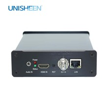Unisheen SRT 4K HDMI SDI Dual Video Encoder UHD Streaming Live IP IPTV Vmix Youtube Facebook Ustream Wowza Rtmp M3U8 Onvif