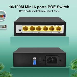 Image 2 - CCTV PoE Net Anahtarı 4 Portlu 10/100M Hub Ethernet Üzerinden Güç PoE & Optik Şanzıman 15W IP Kamera Sistemi Ağ Switcher