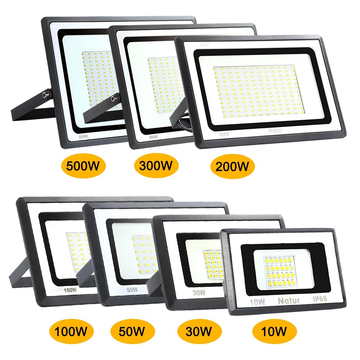 10w/30w/50w/100W/200W/300W/500W Led Floodlight Ip65 Waterproof Of Floodlights Outdoor AC220V Spotlight   Exterior Wall Light