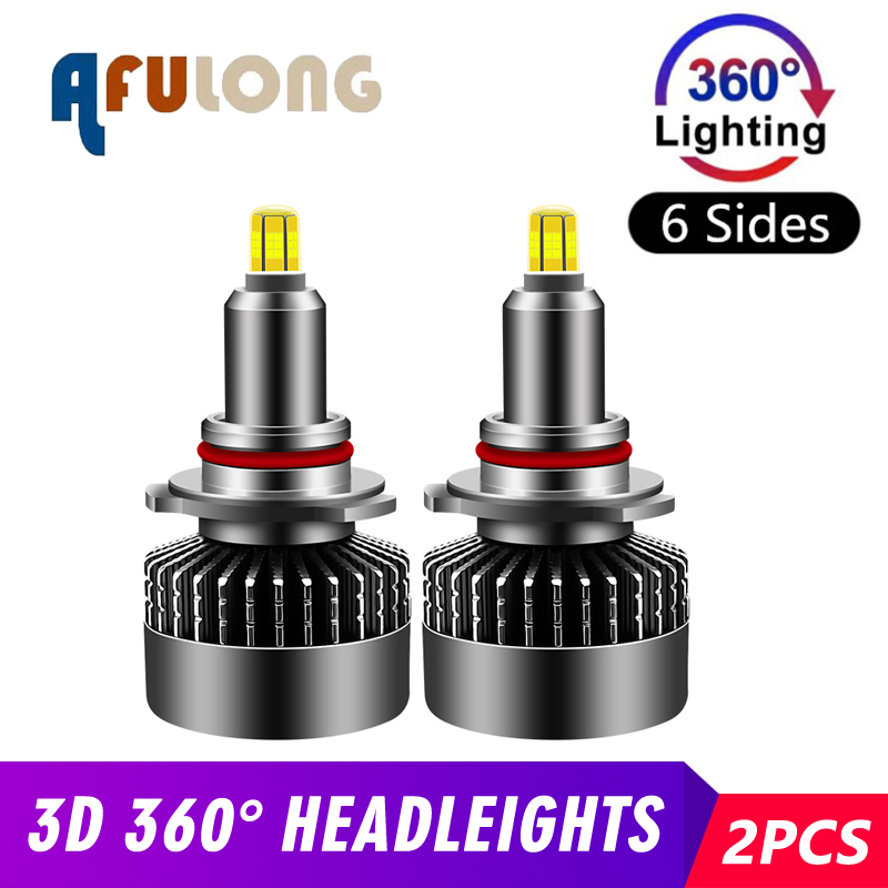 2PCS 6000K H7 <font><b>led</b></font> H1 H8 HB4 H11 HB3 <font><b>LED</b></font> Canbus 9005 9006 <font><b>H9</b></font> 9012 Car Headlight Bulbs 110W <font><b>360</b></font> Degrees Lighting 12000LM 12V Light image