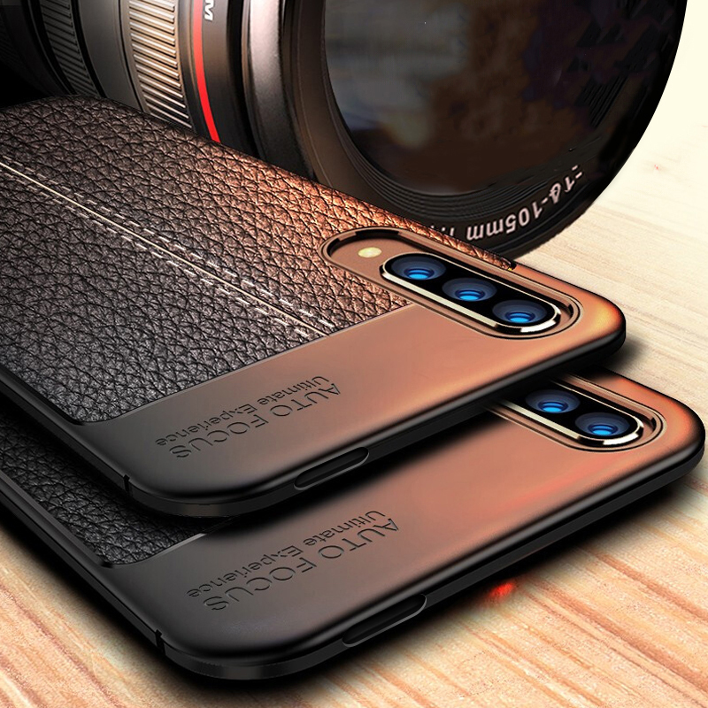 Case For Huawei Y9S Case Cover Soft Silicone Bumper Luxury Leather Style Phone Case on For Huawei Y9S Y9 S Cover STK-L21/LX3