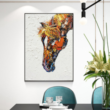 Modern Pictures Horse Oil Painting Color Art Canvas Wall Prints For Living Room Animal Quadros Decoration Unframed
