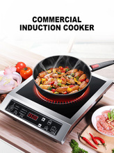 Induction Cooker 3500W Electric Stove Commercial Panel Cooking Unit Stir-fried Stove Hot Pot Soup Furnace High-power